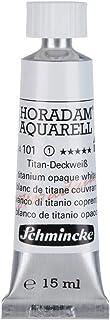Schmincke Künstlerfarben Aquarellfarbe Horadam Napf 1/2 Tube 15 ml 101 Titan Deckweiß