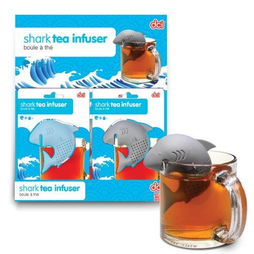 DCI - Infusore per tè a forma di squalo, colore: blu o grigio