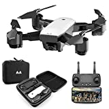 KINGBOT RC Drone, 2.4Ghz Foldable Quadcopter WiFi FPV Remote Control Drones with 120°Wide-Angle 5mp 1080P Camera & Altitude Hold Functions