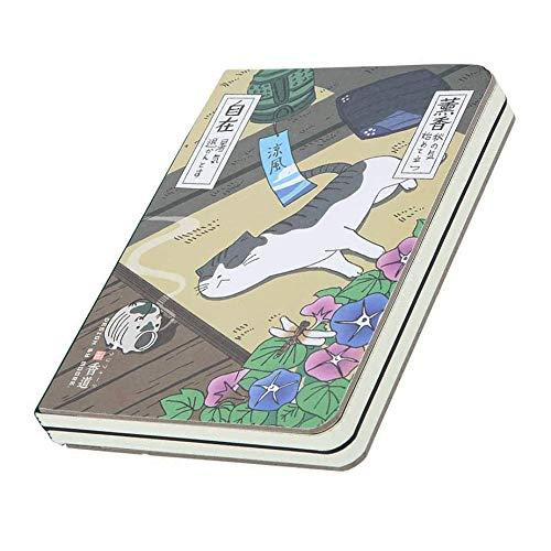 XLKJ Cuaderno de Composición, Cuadernos de Taquigrafía Portada Impresa de Dibujos Animados Japonese, Cuaderno Portátil