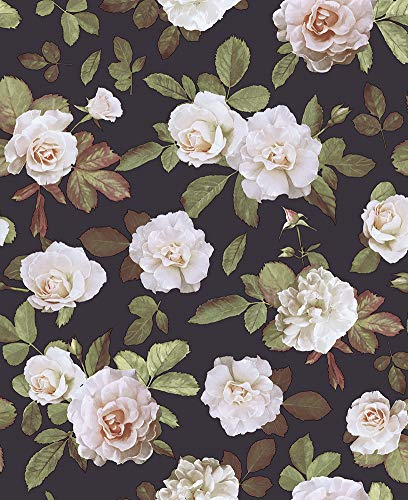 HaokHome 93021 Vintage Floral Peel and Stick Wallpaper Removable...