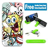 [Ashley Cases] for Samsung Galaxy J2 2018 / J2 Pro 2018 Cover Case Skin with Flexible Phone Stand - Spongebob Friends
