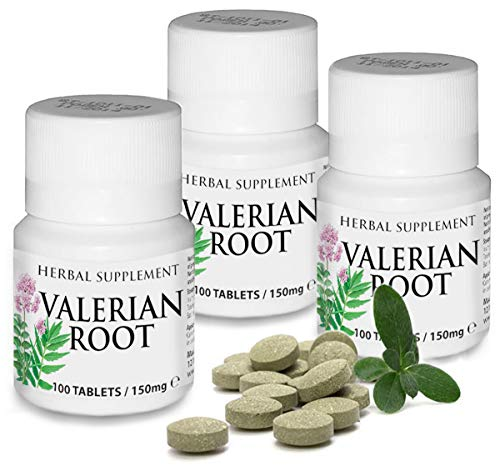 Herbal Supplement Valerian Root 75mg - 300 Tablets (9 Month Supply) Aids in Healthy Natural Sleep, Controlling Anxiety & Stress Management Depression