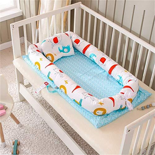 Nido de la manera del bebé de la cuna del bebé for cama for bebé durmiente coloridas coches de bebé Tumbona colecho Cuna 100% algodón cuna portátil for el dormitorio / Viajes 0-24 Meses 3 Piezas Jiale
