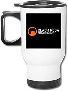 Black Mesa Research Facility Half Life, Trucker Cap 16 Oz Stainless Tumbler Double Wall Vacuum Coffee Mug With Splash Proof Lid For Hot & Cold Drinks