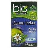 Vitarmonyl SONNO RELAX BIO&VEGAN • Integratore 60 compresse • Passiflora e Melissa • 100% vegan • Registrato Ministero Salute Italiano