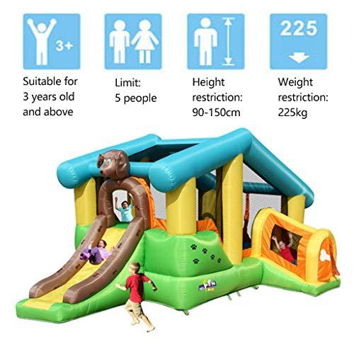 Buy Playhouses Kids Bouncy Castle Blue Dog House Children's Slide Outdoor Large Inflatable Castle Bi...