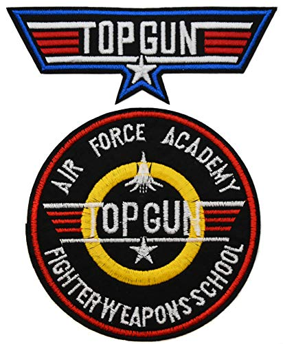 lot 2 ecusson Aile Avion aviateur us air Force Pilote Top Gun Moto USA aviateur thermocollant
