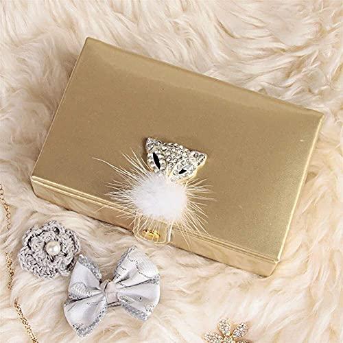 erddcbb Joyero de Cuero Mini joyero de Almacenamiento para Anillo, Collar, Pendientes, baratija, Oro