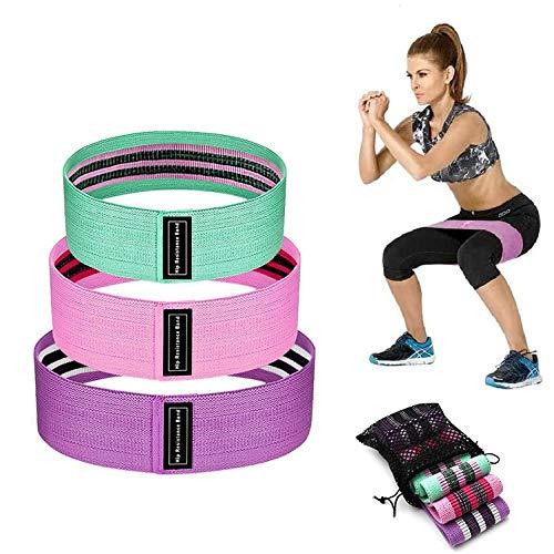 ZKCREATION Elastici Fitness - Bande Elastiche Fitness, (Set di 3) con 3 Livelli di Resistenza, Fasce Elastiche Fitness Ideale per Pilates, Yoga, Riabilitazione, Elastici Fitness Resistenza
