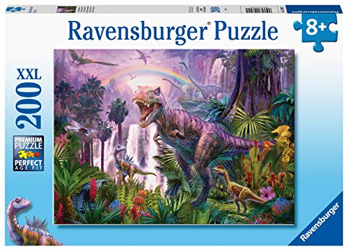 Ravensburger Kinderpuzzle - 12892 Dinosaurierland - Dino Puzzle für Kinder ab 8 Jahren, mit 200 Teilen im XXL-Format