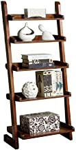 Furniture of America Lugo Ladder Display Shelf,5, Brown