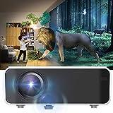 Rosvola 3D Mini Projektor, HD 1080P LED Smart Cinema Beamer WiFi Bluetooth Heimkino Unterhaltung 720P für Androids 110V-240V(EU)