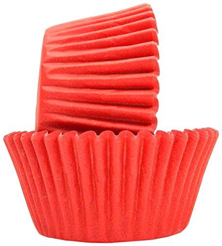 Regency Wraps Greaseproof Baking Cups, Standard, Solid, Red