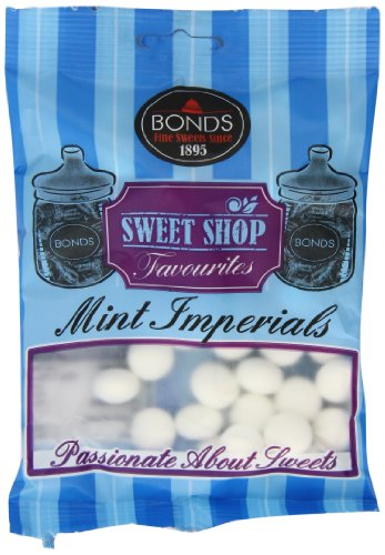 Original Bonds London Mint Imperials Bag Peppermint Flavored Hard Sugar Sweets Imported From The UK England The Best Of British Candy A Classic Sweet Shop Favorite Sweet Mint Imperials