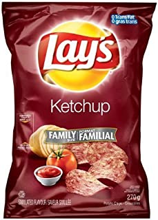 Canadian Lays Ketchup Flavour Chips [5 Large Bags] by Lay's