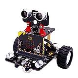 YELLAYBY Robot Kit para Micro: bit Stem Robotics Kits for Kids to Programable BBC Microbit Robots DIY Toy Car con el Seguimiento de tutoriales Educación científica (sin Micro: bit)