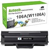 Aztech 106A - Tóner compatible para HP 106A W1106A - Cartuchos de tóner para HP Laser MFP 137fnw 135w 107w 107a 107r HP Laser MFP 135a 135wg 135ag 135r HP Laser MFP 137fwg, W1106a (1 negro HP 106a) A)