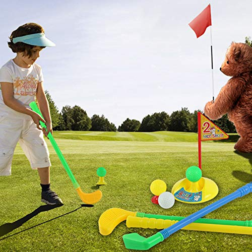 Homely Plastic Golf Toys Set, Multicolor