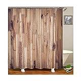 Daesar 3D Anti Schimmel Duschvorhang 90x180 Wand Duschvorhang Waschbar aus Polyester-Stoff