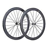 VCYCLE 50mm Fibre de Carbone Vélo de Course Route Roues Clincher Pneu Largeur 23mm Shimano ou Sram 8/9/10/11 Vitesse