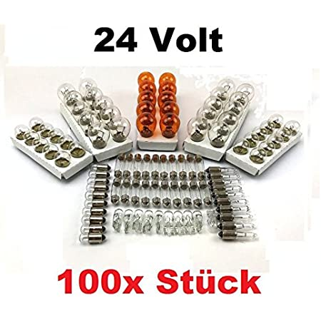 100x St 24v Lkw Nfz Auto Lampen Set 10x P21 5w 10x P21w 10x