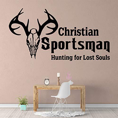 LOIUYT Christian vinilo rollo de papel tapiz de muebles decoración de la habitación de los niños calcomanía de pared accesorios de decoración del hogar 30 cm X 57 cm