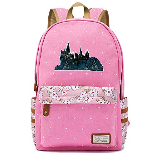 NYLY Ragazze tela zaino Harry Potter borsa giovane borsa spalla signore moda floreale Daypacks Medio S-2