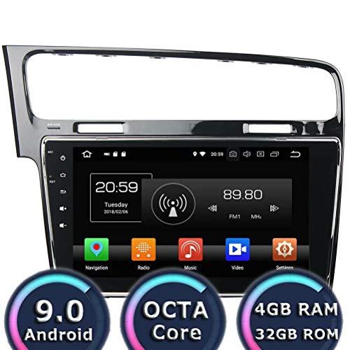 ROADYAKO 10.1Inch Android 8.0 Stéréo Automatique pour VW Golf 7 2013 2014 2015 Autoradio stéréo avec Navigation GPS 3G WiFi Lien Miroir RDS FM AM Bluetooth AUX Multimédia Audio Vidéo