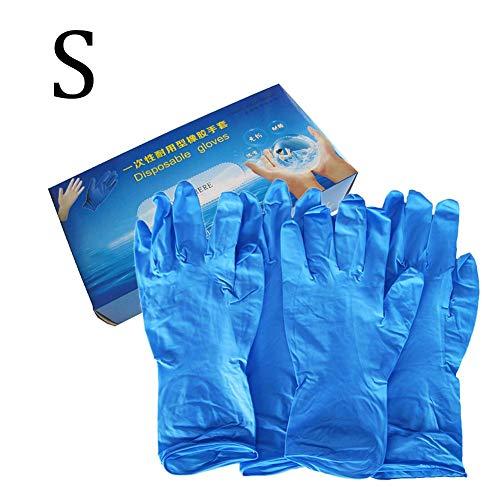 Nitrilhandschuhe Puderfrei Kein Latex Nitrilhandschuhe Einweghandschuhe Blau Öl- Und Säurebeständig Sterile Handschuhe Für Restaurant Kitchen Laboratory Beauty Salons (100 Stück)