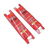 Namvo 2 piezas de malla PVA soluble en agua de disolución lenta de 5 metros de largo, dispositivo de anidación especial para pesca (18 mm de ancho)