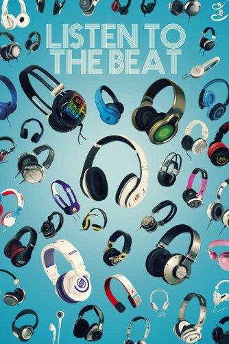 Empire 498656 Muziek - Luister naar de Beat Hoofdtelefoon Stereo Poster 61 x 91,5 cm
