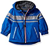 LONDON FOG Baby Boys Chest Strip Poly Lined Jacket, Real Blue, 12M