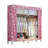 HPYR Doppel-Canvas-Kleiderschrank für Studentenwohnheime, große Kapazität Abnehmbar Schweres...