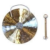 Gong | Feng gong / Wind gong tradicional y auténtico 40 cm : 16 '' - Instrumento de música artesanal, sonido único - Música, meditación, relajación, alivio del estrés y decoración