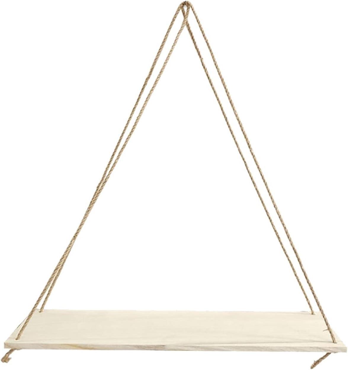 Regular discount LQHZ Wall Shelf Storage Ranking TOP4 Premium Swing Hanging Rope Wa Wood