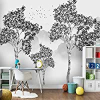 MAZF カスタム写真の壁紙手描きの森の風景3D壁画リビングルームテレビ寝室アート家の装飾絵画3D 208 cm(B)x 146 cm(H)