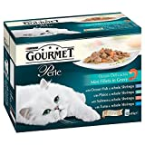 Purina Gourmet Perle Ocean Delicacies Mini Fillets in Gravy - Pouch (12x85g) - Pack of 2