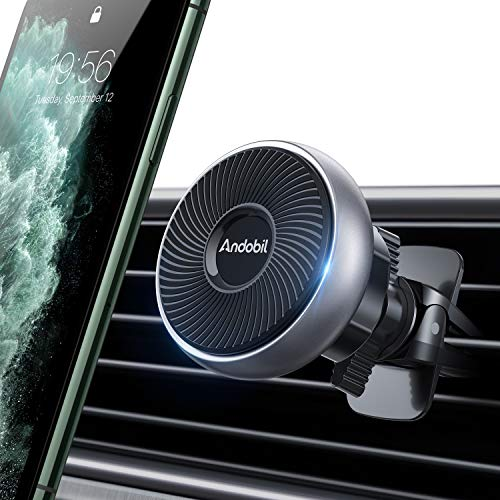 [Best Magnetic] andobil Magnetic Car Vent Phone Mount [Super Stable] Handsfree Universal 360 Degree Rotation Magnet Phone Mount Fit with All iPhone, Samsung, LG & Other