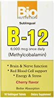 海外直送品B-12 Sublingual, 50 Tabs by Bio Nutrition Inc