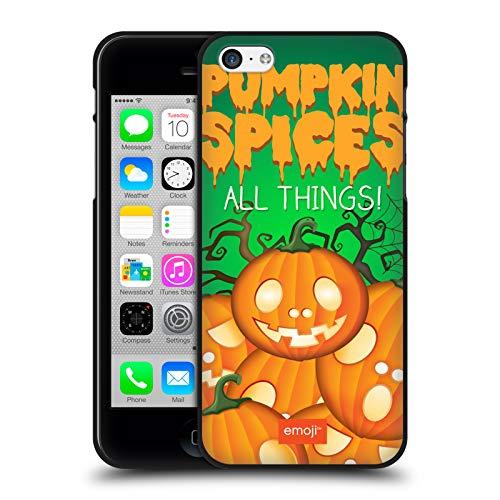 Head Case Designs Ufficiale Emoji Spezie di Zucca Parodie di Halloween Cover Nera in Morbido Gel Compatibile con Apple iPhone 5 / iPhone 5s / iPhone SE 2016