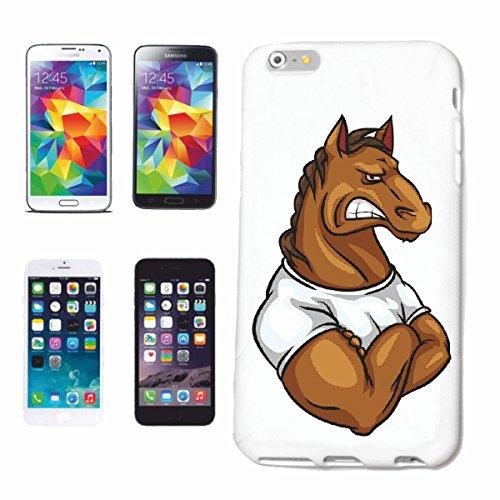 Bandenmarkt mobiele telefoonhoes compatibel met iPhone 6 paard IM spieropbouw voeding herkenning gewichtheffen body