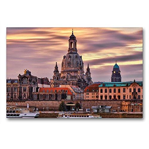 Calvendo Premium Lienzo 90 cm x 60 cm Horizontal, Vista de la Orilla de la Ciudad, Imagen sobre Bastidor, Lienzo de Pared, diseño de Lugares