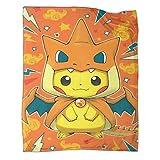 Décoration d'hiver pour la maison - Poster Pokémon - Convient aux adultes et aux enfants - Pour utiliser une couverture douce - 150 x 200 cm