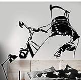 Vinilo Tatuajes De Pared Chica Desnuda En Bicicleta Pegatinas Hermosas Del Cuerpo Mural De Arte Extraíble Para La Decoración De La Sala De Estar Del Dormitorio 42X47Cm