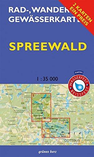 """Rad-, Wander- und Gewässerkarten-Set: Spreewald: Mit den Karten: """"Oberspreewald"""" und """"Unterspreewald"""". Maßstab 1:35.000. Wasser- und reißfeste Karten. ... Berlin/Brandenburg / Maßstab 1:35.000)"""