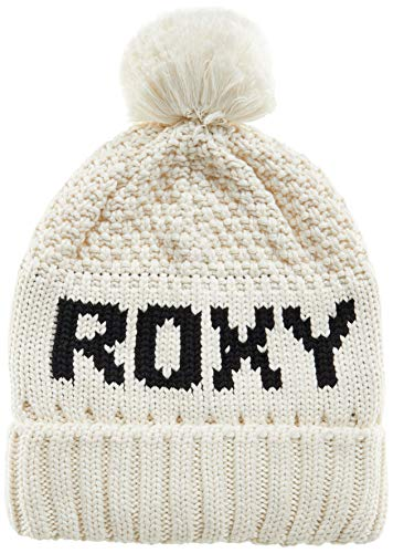 Roxy Tonic - Gorro con Pompón para Mujer Gorro, Mujer, Egret, One Size