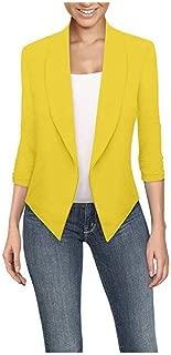 FSSE Womens Long Sleeve Irregular Hem Cardigan Work Office Blazer Jacket Suit Coat