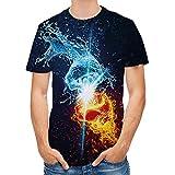 XDJSD Camiseta De Manga Corta para Hombre Camiseta De Cuello...