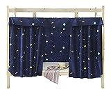 tenda in tessuto per letto a castello per dormitorio, tenda oscurante per letto a baldacchino a prova di polvere e zanzare, dark blue, 1.2m x 2m ( 1 piece included )